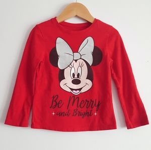 Toddler Minnie Christmas Top